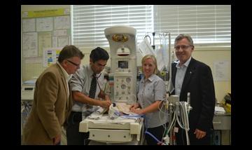 Rotary representatives and Redland Hospital staff