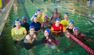Metro South Health swimming lessons in action as part of the Healthy New Communities initiative.