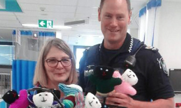 Local police make surprise delivery to children's emergency