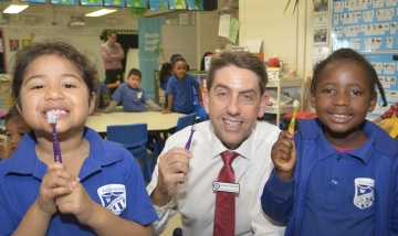 Tooth brushing at Woodridge State School